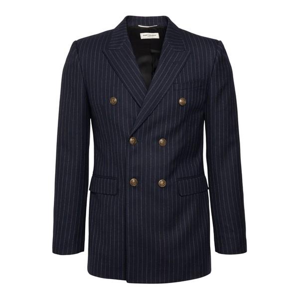 Blue striped blazer                                                                                                                                   Saint laurent 635549 front