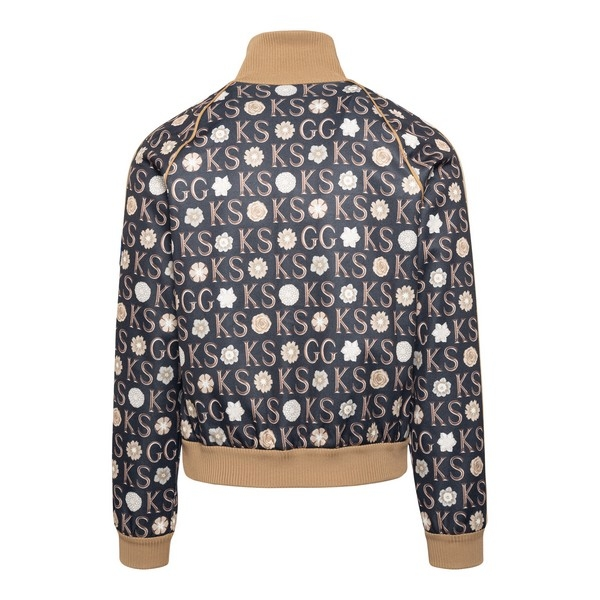 Black and brown sports jacket with print                                                                                                               GUCCI