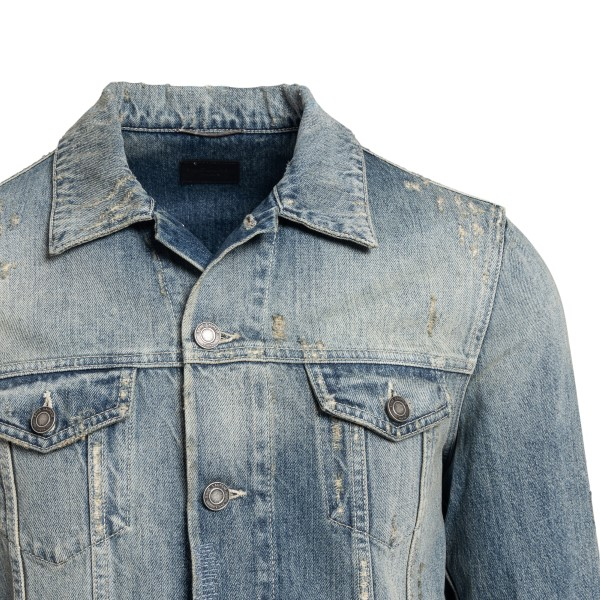 Distressed effect denim jacket                                                                                                                         SAINT LAURENT