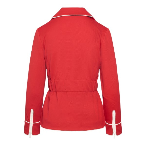 Red jacket with wide collar                                                                                                                            GUCCI