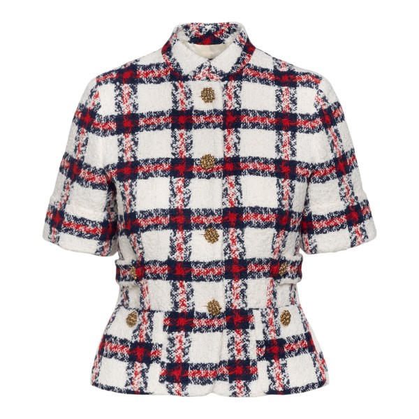 Checked cropped jacket                                                                                                                                 GUCCI