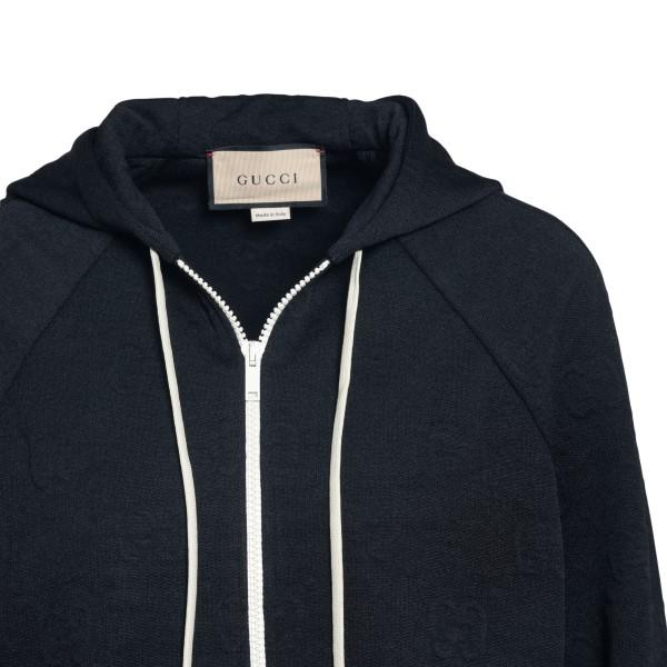 Black sweatshirt with zip                                                                                                                              GUCCI