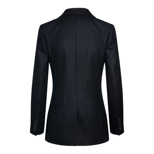Black blazer with golden embroidery                                                                                                                    SAINT LAURENT