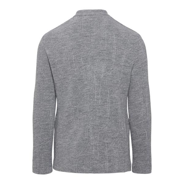 Blazer grigio con chiusura decentrata                                                                                                                  EMPORIO ARMANI                                     EMPORIO ARMANI