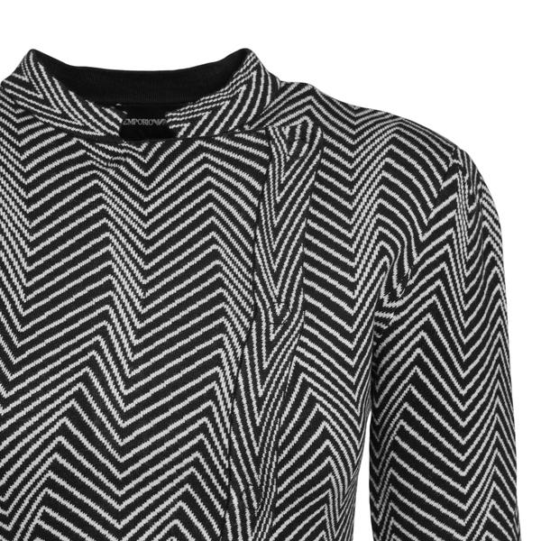 Giacca bicolore con pattern geometrico                                                                                                                 EMPORIO ARMANI EMPORIO ARMANI