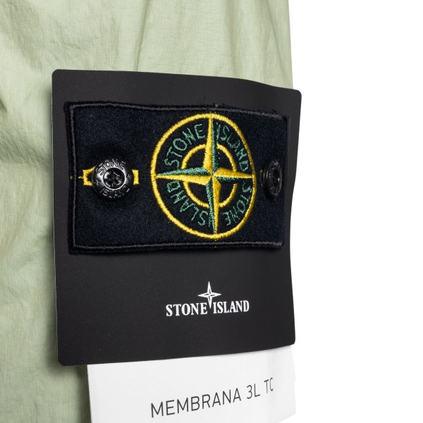Green jacket with logo patch                                                                                                                           STONE ISLAND