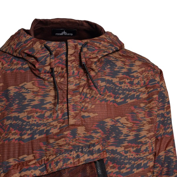 Brown jacket with graphic pattern                                                                                                                      STONE ISLAND SHADOW PROJECT