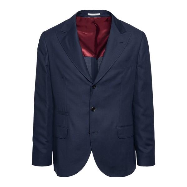 Classic blue blazer                                                                                                                                   Brunello cucinelli 7BFD front