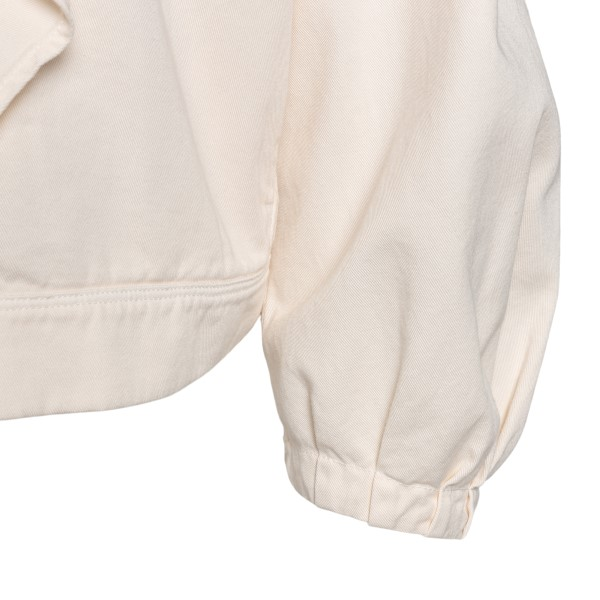 Cream jacket with ruffles                                                                                                                              FORTE FORTE