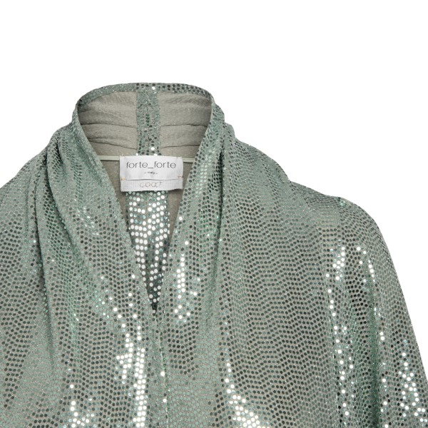 Long green jacket with sequins                                                                                                                         FORTE FORTE
