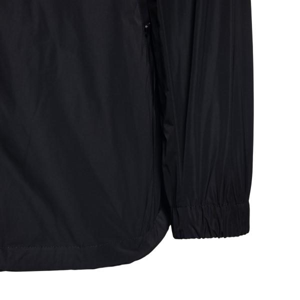Black jacket with tonal logo print                                                                                                                     BURBERRY