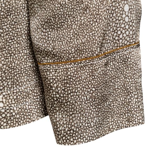 Giacca leggera marrone con stampa grafica                                                                                                              FORTE FORTE                                        FORTE FORTE