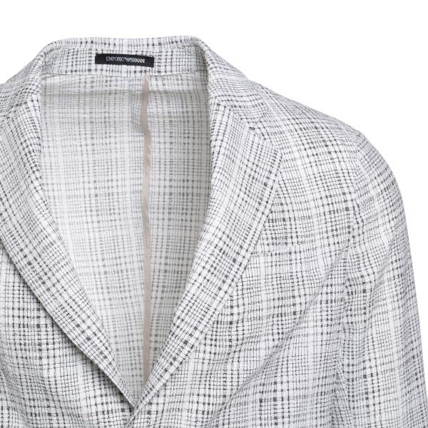 Grey checked blazer                                                                                                                                    EMPORIO ARMANI