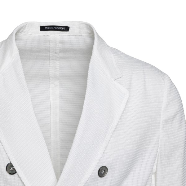 Double-breasted white blazer                                                                                                                           EMPORIO ARMANI