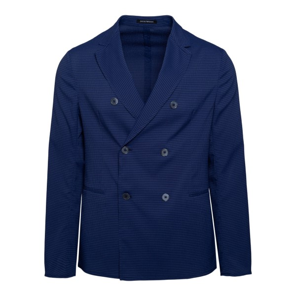 Double-breasted blue blazer                                                                                                                           Emporio Armani A1G920 front