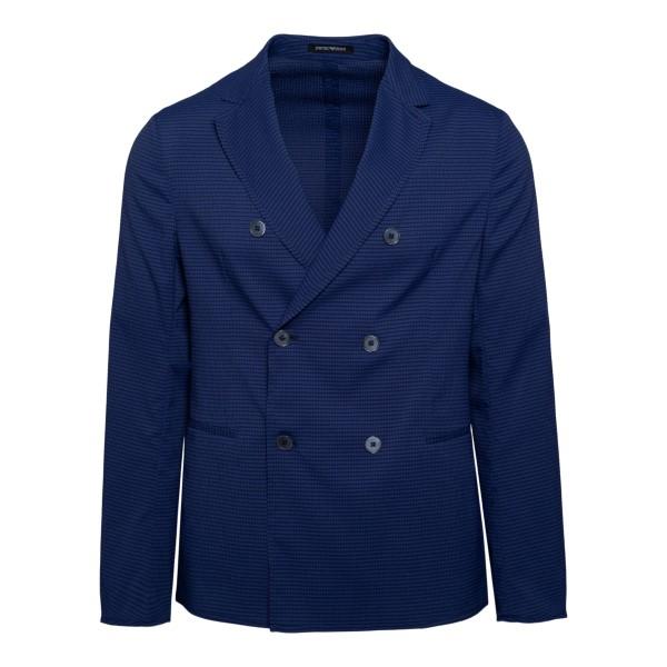 Double-breasted blue blazer                                                                                                                           Emporio Armani A1G920 back