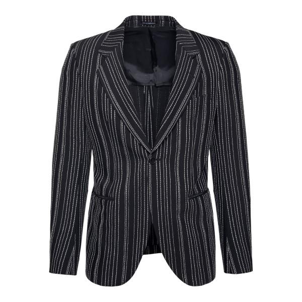 Black striped blazer                                                                                                                                  Emporio Armani A1GW70 back