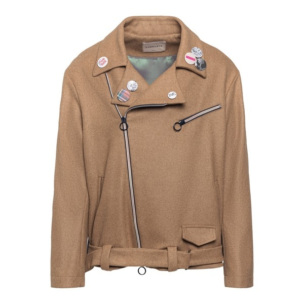 Beige Biker cloth jacket                                                                                                                              Corelate A20643P front