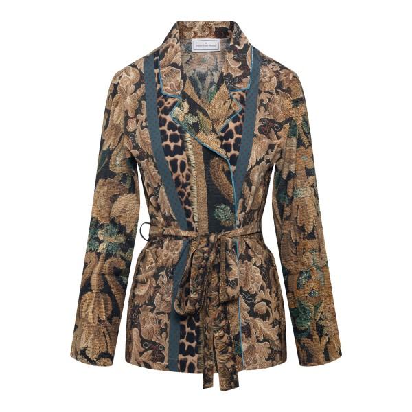 Brown jacket with belt                                                                                                                                Pierre Louis Mascia ADANASTRSVGC11096 back