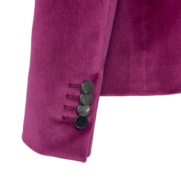 Double-breasted fuchsia blazer                                                                                                                         TAGLIATORE