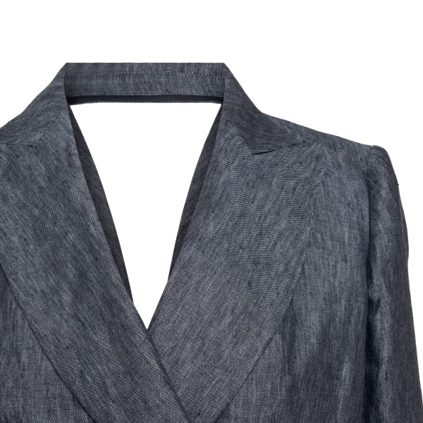 Grey blazer with opening on the back                                                                                                                   EMPORIO ARMANI