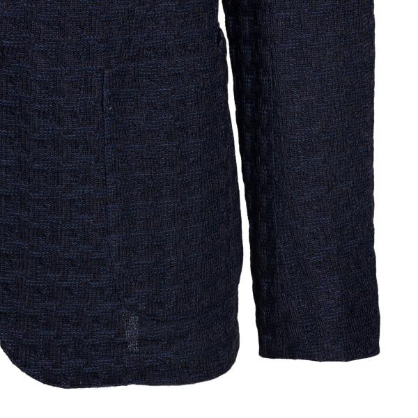 Blue textured blazer                                                                                                                                   EMPORIO ARMANI