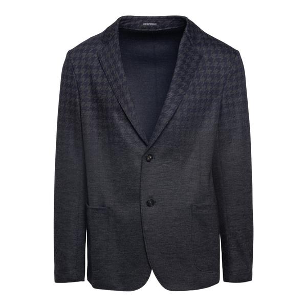 Blazer grigio con pattern a pied-de-poule                                                                                                              EMPORIO ARMANI                                     EMPORIO ARMANI