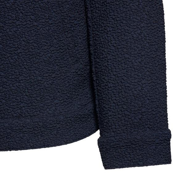 Blue sweatshirt with texture                                                                                                                           EMPORIO ARMANI