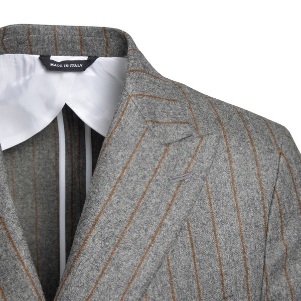 Grey pinstripe double-breasted blazer                                                                                                                  LC23