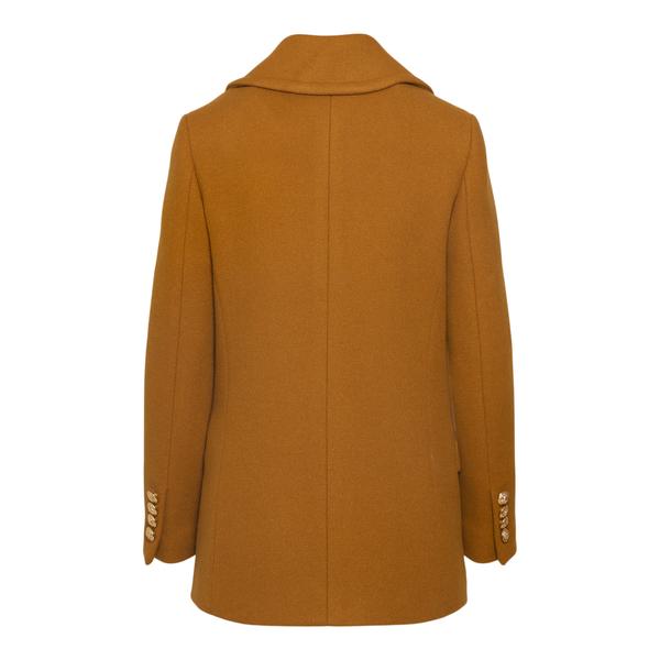 Double-breasted coat in orange                                                                                                                         TAGLIATORE