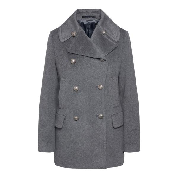 Cappotto grigio a doppiopetto                                                                                                                         Tagliatore BLANCHE retro