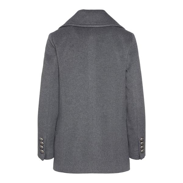 Double-breasted grey coat                                                                                                                              TAGLIATORE