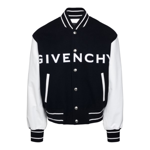 Black jacket with contrasting sleeves                                                                                                                  GIVENCHY