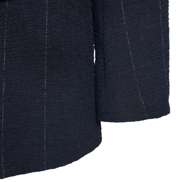 Blue striped blazer                                                                                                                                    EMPORIO ARMANI