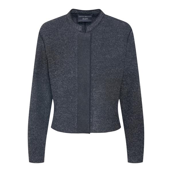 Cropped jacket in dark grey                                                                                                                           Emporio Armani BNG20T back