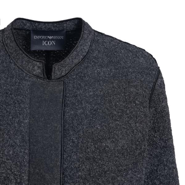Cropped jacket in dark grey                                                                                                                            EMPORIO ARMANI