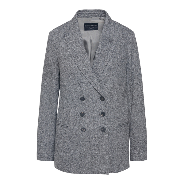 Double-breasted grey blazer                                                                                                                           Emporio Armani BNG25T back