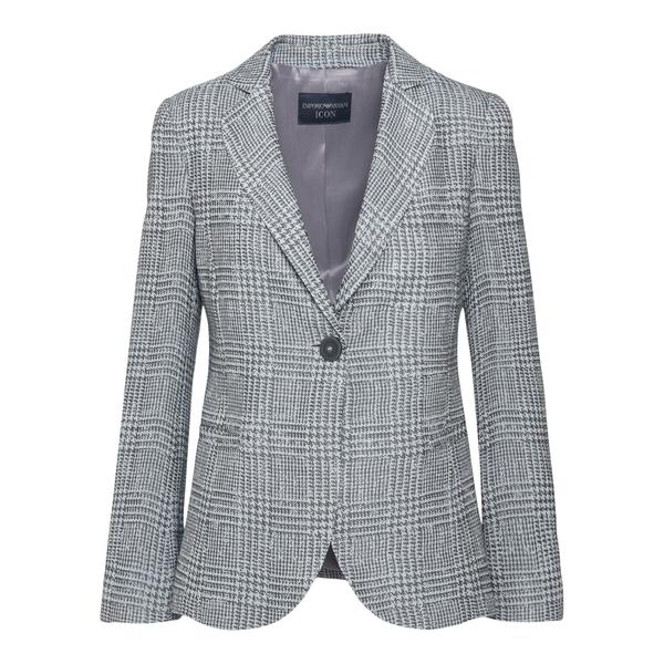 Grey houndstooth blazer                                                                                                                               Emporio Armani BNG3BT back