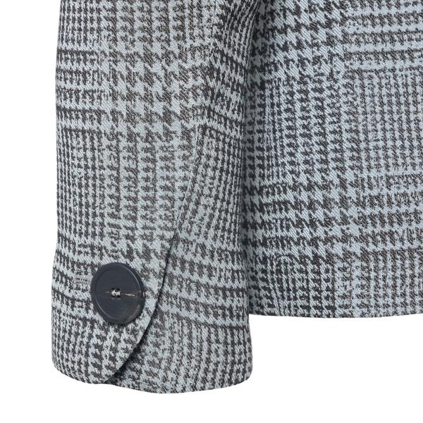 Grey houndstooth blazer                                                                                                                                EMPORIO ARMANI