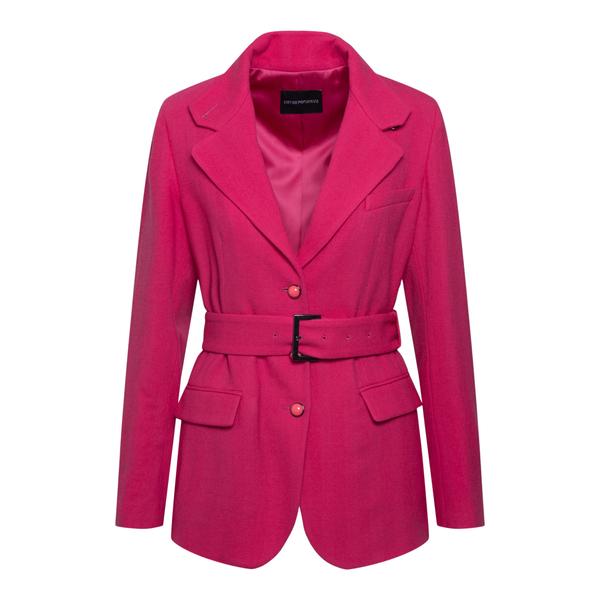 Fuchsia jacket with belt                                                                                                                               EMPORIO ARMANI