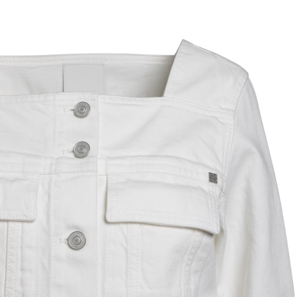 White jacket with square neckline                                                                                                                      GIVENCHY