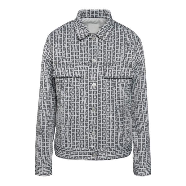 White and grey jacket with logo pattern                                                                                                               Givenchy BW00C3 back