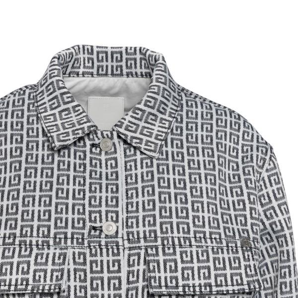 Giacca bianca e grigia con pattern logo                                                                                                                GIVENCHY                                           GIVENCHY