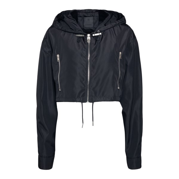 Black jacket with brand name on the back                                                                                                              Givenchy BW00C8 back
