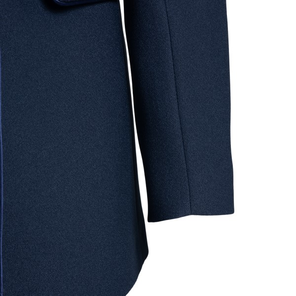 Double-breasted blue jacket with handkerchief                                                                                                          HEBE STUDIO