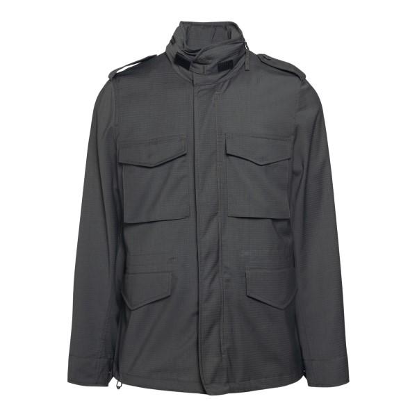 Grey jacket with multiple pockets                                                                                                                      ASPESI