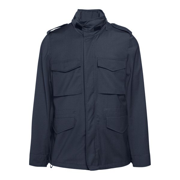 Blue jacket with multiple pockets                                                                                                                     Aspesi CG20 front