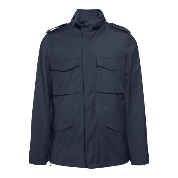 Blue jacket with multiple pockets                                                                                                                     Aspesi CG20 back