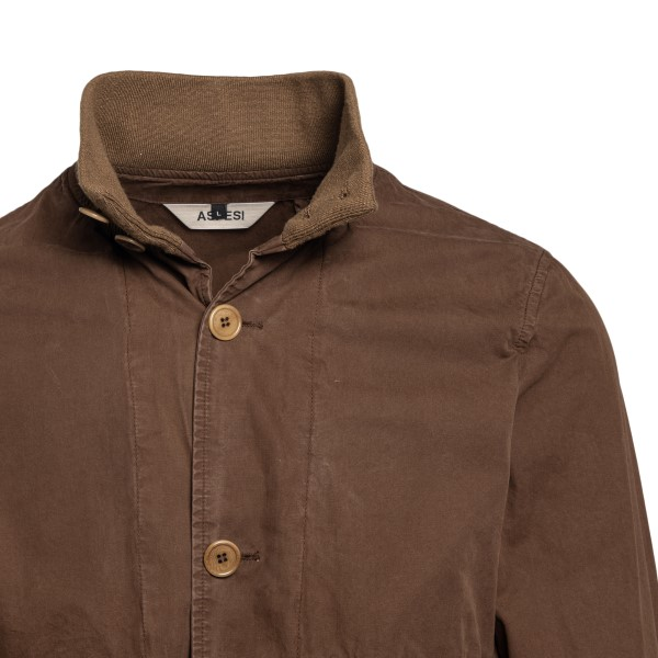 Brown jacket with pockets                                                                                                                              ASPESI