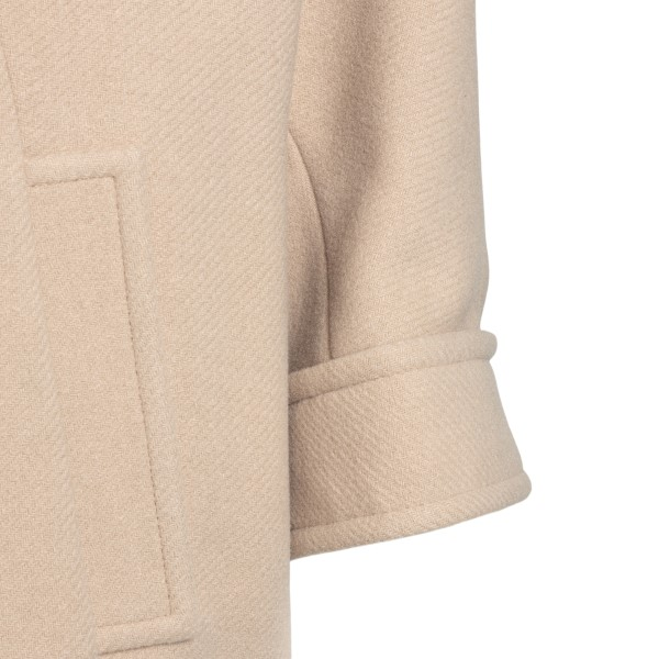 Beige jacket with knitted collar                                                                                                                       CHLOE'
